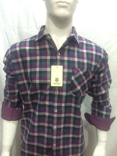MENS CHECKS SHIRT ( 9INE ) - 118/2