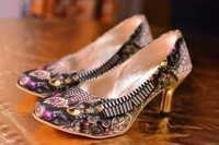 Women Footwear Digital Print Shoes Heels Stilettos