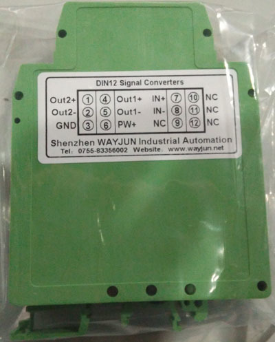 4-20mA to 0-10V signal isolated splitter
