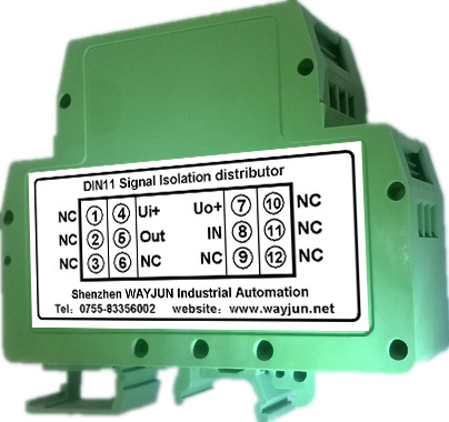 DIN35 Rail Loop Powered 4-20mA Signal Isolator