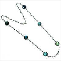 Labradorite 925 Sterling Silver Beaded Necklace