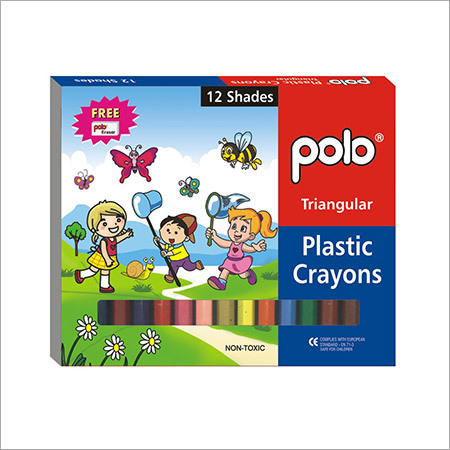 Plastic Crayons ( Triangular) 12 Shades
