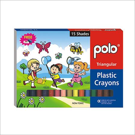 Plastic Crayons ( Triangular)15 Shades