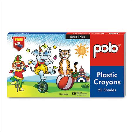 Plastic Crayons ( Triangular) 25 Shades