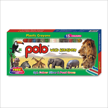 Wild Kingdom Plastic Crayins 15 Colour