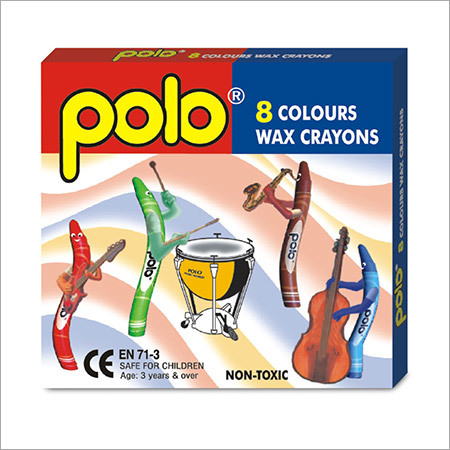 Wax Crayons 8 Colours