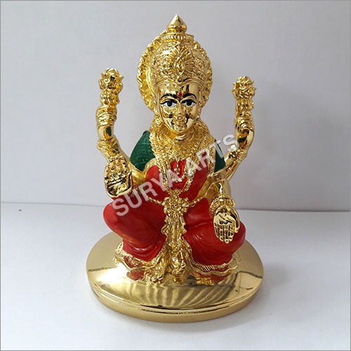 Gold Plated Laxmi Statue