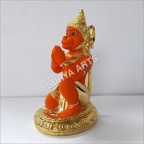 Gold Plated Hanuman Statues