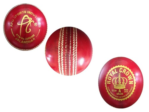 APG ROYAL CROWN Red Leather Cricket Ball