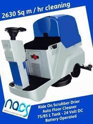 Ride on Scrubber Drier 24 Volt 75 Liter Sq m per h