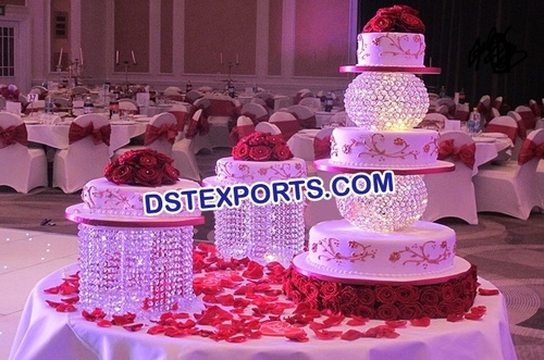 Asian Wedding Crystal Cake Stand