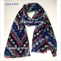 Wool Screen Printing Shawls