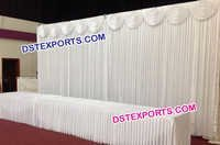 Wedding Mandap Pleeted Backdrop