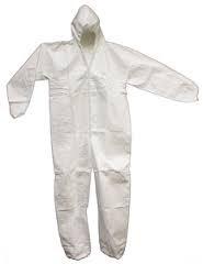 Nonwoven White PVC Suit