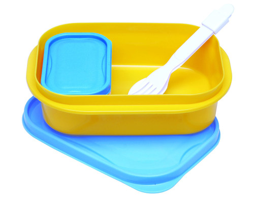 Blue Yellow Lunch Box