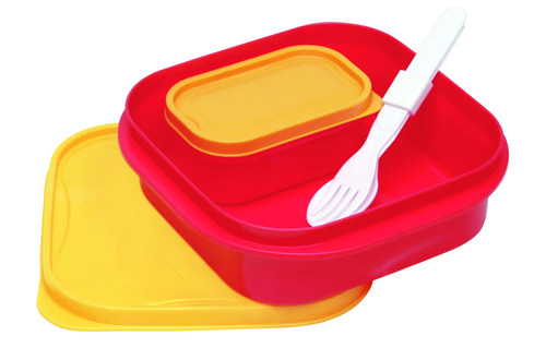 Yellow Red Lunch Box