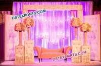 Wedding Tufted Leather Backdrop Panel With Crystal