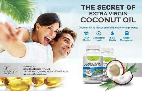 Extra virgin Coconut oil capsules