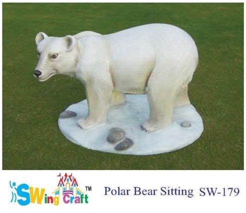 Fiber Animals  - Polar Bear Sitting