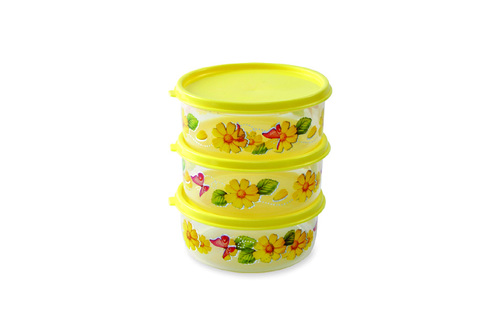 3 Pcs AIR TIGHT PRINTED Lunch Box