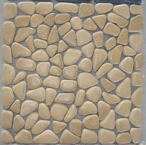 Yellow Pebble Mosaic
