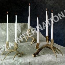 Brass Antler Candle Holder