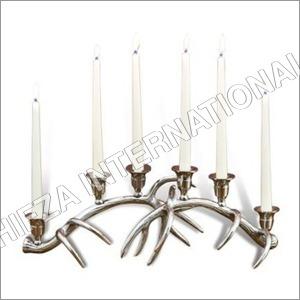 Silver Antler Candle Holder