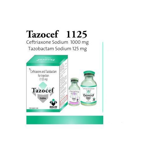 Ceftriaxone Sodium 1000mg Tazobactam Sodium 125mg