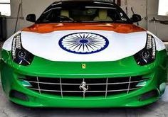 Independence Day Flag for Car
