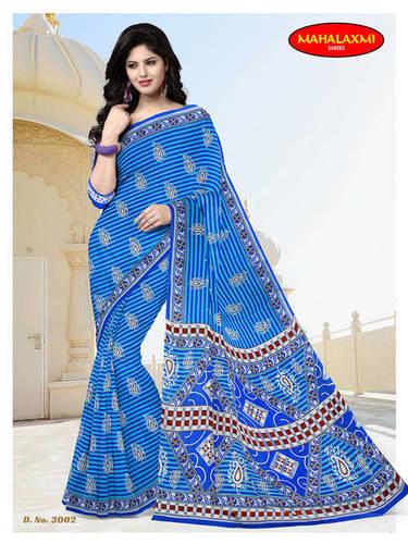 100% Cotton Printed Sarees Wholesaler