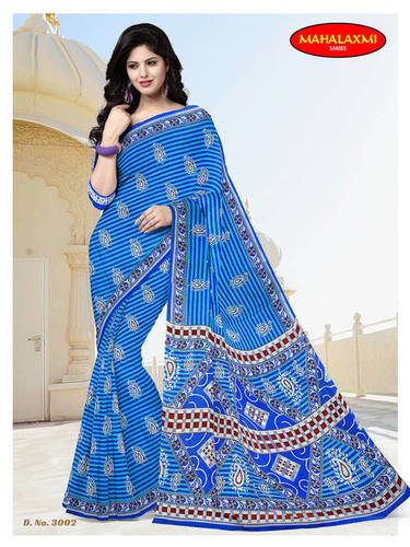 100% Cotton Printed Sarees Wholesaler