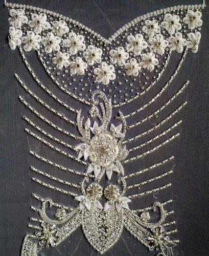 Panel Embroidery for Bridal Dresses & Gown