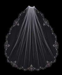 Embroidery On Bridal Veil