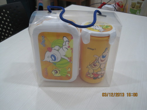 Lunch box with bottle
