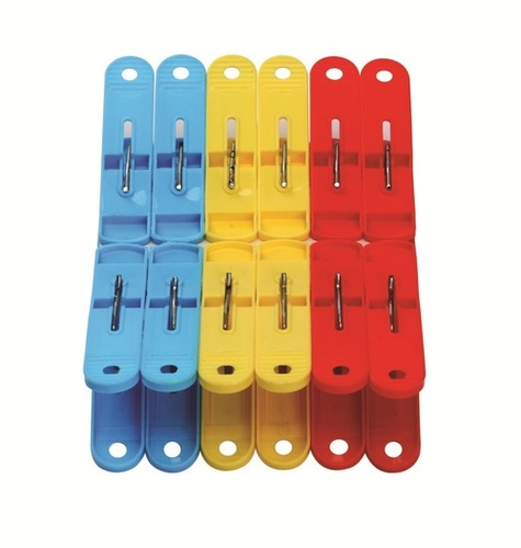 Red yellow Cloth Clips