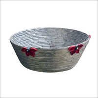 Handmade Recycled Paper Basket