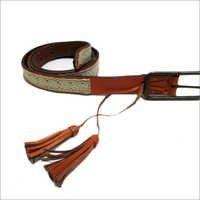 Leather Belt With Lacework