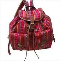 Woven Fabric Backpack