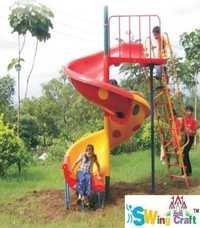 Playground Spiral Slides