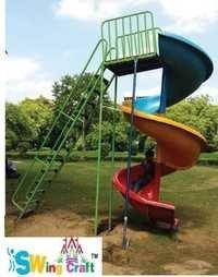 Big Spiral Slides for Playground