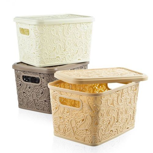 Floria Lace Storage Box W/H Lid