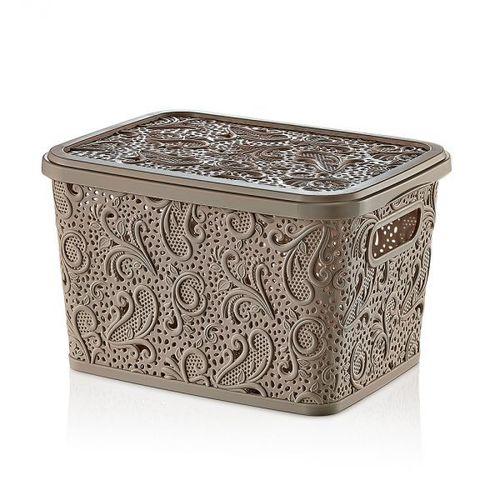 Floria Lace Storage Box W/H Lid ( 10lt)