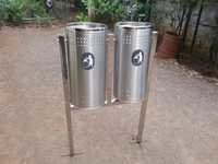 Two Poles With Two Bins