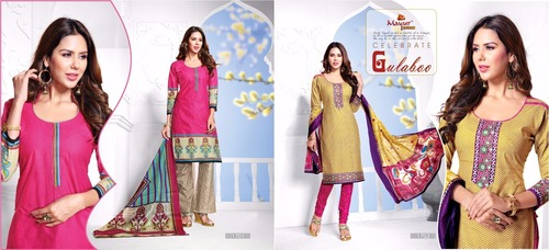 Colored Printed Cotton Suits
