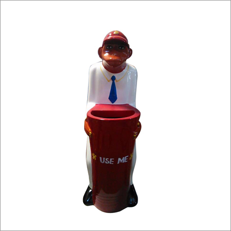 Fiberglass Playground Monkey Dustbin