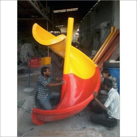 Playground Spiral Slide