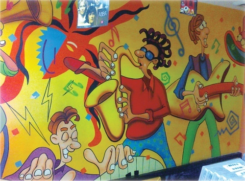 Music Room Wall Painting
