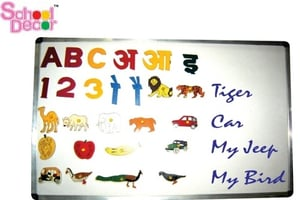 Magnetic White Marker Board With Letters