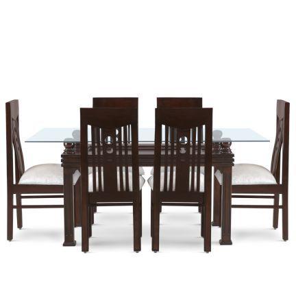 Six Seater Dining Set Walnut