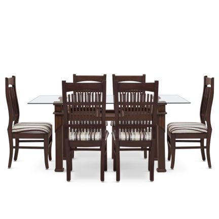 Pennfield Six Seater Dining Set Walnut